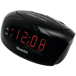 Westclox 70044a super-loud led electric alarm clock (black)