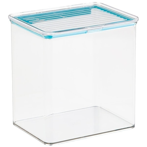 InterDesign 67320 Kitchen Panty Fridge Binz Container with Sealed Lid, 3.1 quarts, Clear