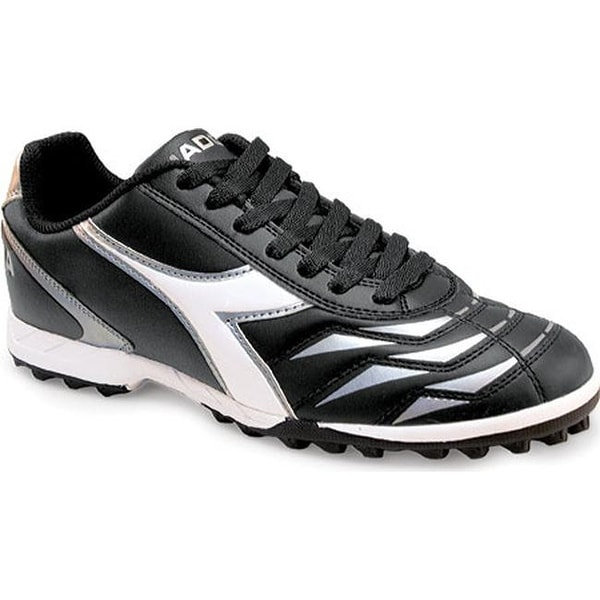 Shop Diadora Men s Capitano LT TF Black White Silver - Free Shipping ... c8a29b3df