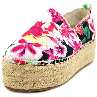 Betsey Johnson Flouncee   Round Toe Canvas  Espadrille