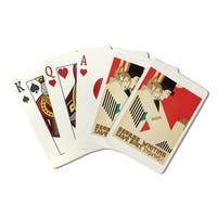George Whiting (Iannelli) Vintage Poster  (Poker Playing Cards Deck)
