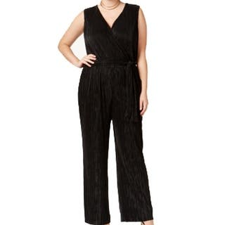 NY Collection NEW Black Womens Size 1X Plus Surplice Wide Leg Jumpsuit|https://ak1.ostkcdn.com/images/products/is/images/direct/4ac1c83c3de91fe79d6c7dcb54f6674e47f85183/NY-Collection-NEW-Black-Womens-Size-1X-Plus-Surplice-Wide-Leg-Jumpsuit.jpg?impolicy=medium