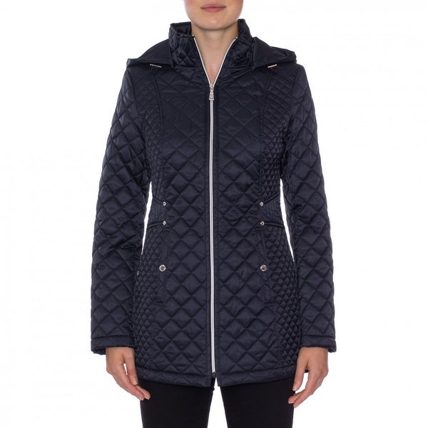Shop Laundry By Design Quilted Jacket With Detachable Hood Free