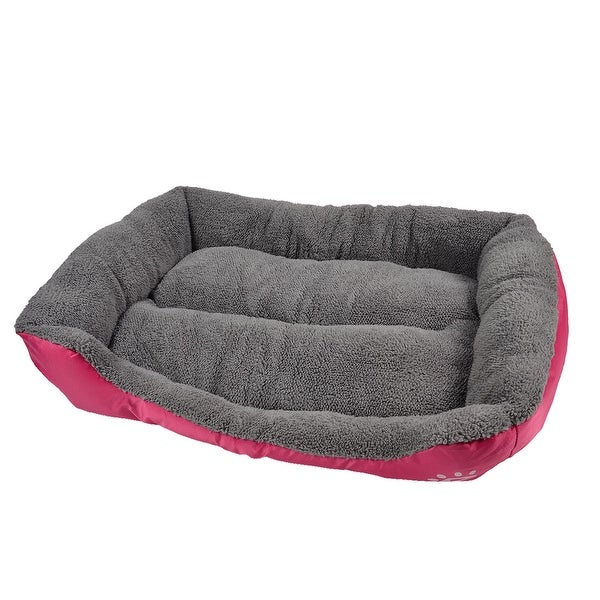 Shop Pet Paw Printed Puppy Cushion Basket Cat Doghole House