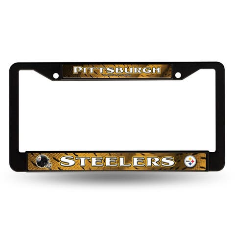 Pittsburgh Steelers License Plate Frame Chrome Black New
