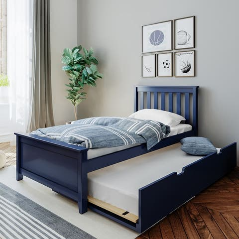 Max & Lily Twin-Size Bed with Trundle