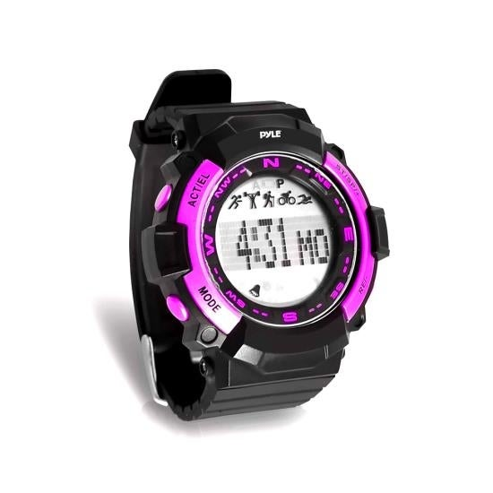 Multi-Function Sports Wrist Watch, Sleep Monitor, Pedometer Step Counter and Stop Watch (Pink)
