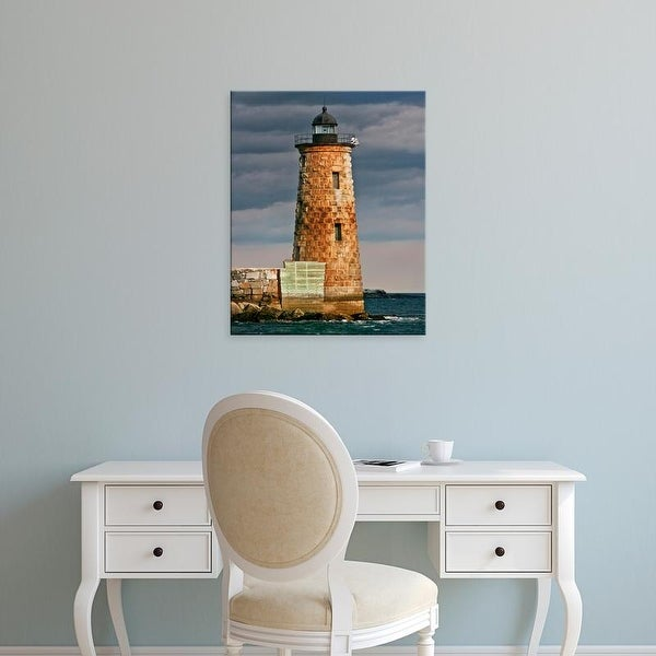 Easy Art Prints Rachel Perry's 'Lighthouse Views V' Premium Canvas Art