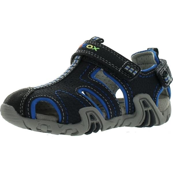 Geox Boys Kraze Fashion Athletic Fisherman Sandals - Navy/Light Blue - 22 m eu / 6.5 m us toddler
