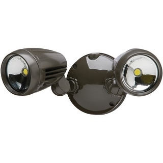 Heath Zenith HZ-8486-BZ-A Dual Head LED Dusk To Dawn Flood Light, 1526 Lumens