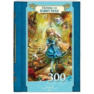 Down the Rabbit Hole 300 Piece Book Puzzle