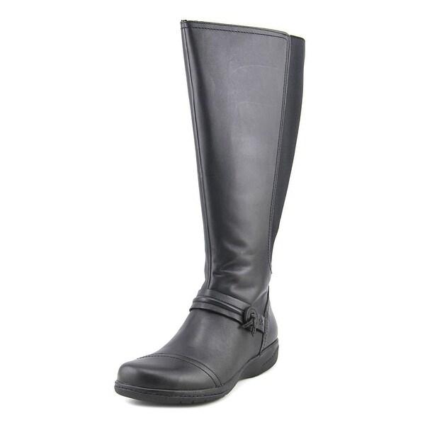 Clarks Narrative Cheyn Whisk Wide Calf Women Leather Black Knee High Boot