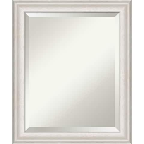 Trio White Wash Silver Bathroom Vanity Wall Mirror