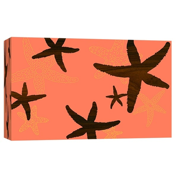"""PTM Images 9-102037 PTM Canvas Collection 8"""" x 10"""" - """"Starfish 1"""" Giclee Starfishes Art Print on Canvas"""