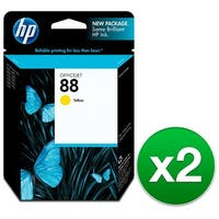 HP 88 Yellow Original Ink Cartridge (C9388AN) (2-Pack)