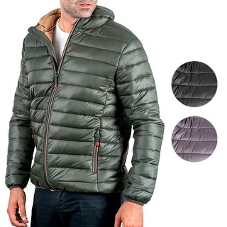Link to Mens Puffer Hooded Jacket Lightweight Insulated Slim Fit Fall Winter Similar Items in Men's Outerwear
