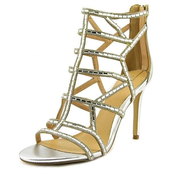 Aldo Fidenza Women Open-Toe Synthetic Silver Heels