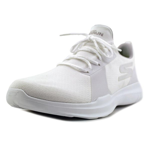 Skechers Go Run Mojo Men Round Toe Canvas White Running Shoe