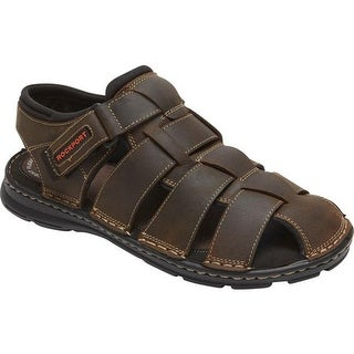 Rockport Men's Darwyn Fishermen Sandal Brown II Leather