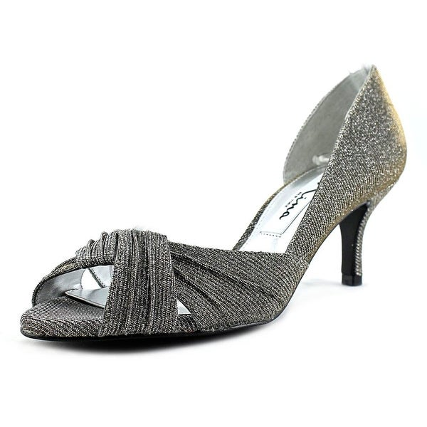 Nina Carrie Peep-Toe Synthetic Heels