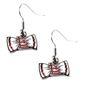 Bow Tie Earrings St Louis Cardinals