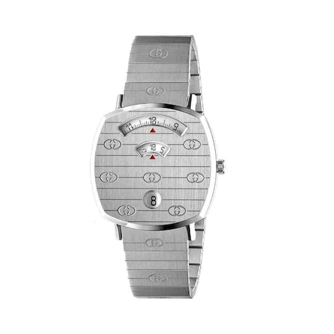 Gucci Unisex YA157419 'Grip' Stainless Steel Watch - Silver