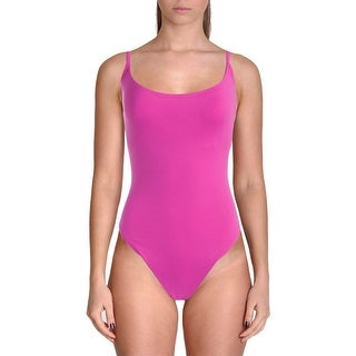 Anne Cole Womens No Cups Solid One-Piece Swimsuit - 16