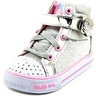 Skechers Shuffles Doily Dance Toddler Canvas Silver Fashion Sneakers