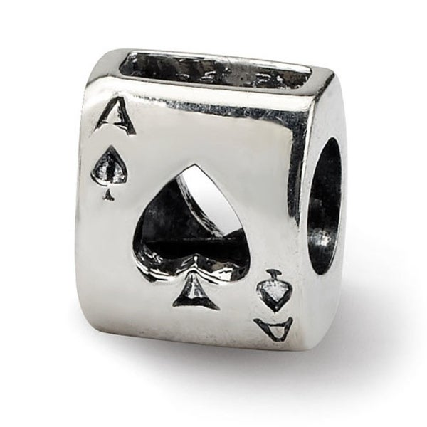 Sterling Silver Reflections Ace Card Bead (4mm Diameter Hole)