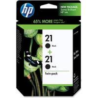 HP 21 2-pack Black Original Ink Cartridges (C9508FN) (Single Pack)