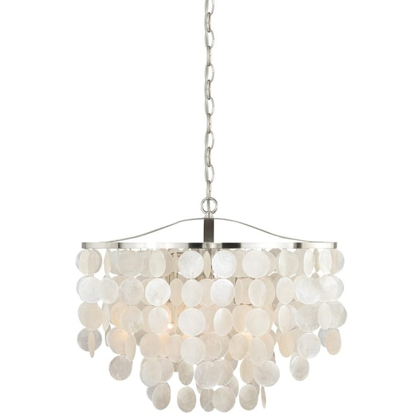 Vaxcel Lighting P0139 Elsa 3-Light Foyer Pendant - capiz shell