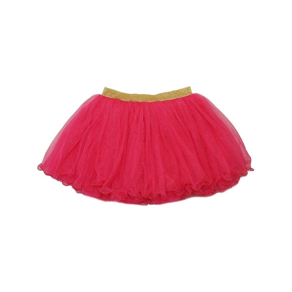 2b708699c2 Shop Wenchoice Girls Hot Pink Gold Shimmery Elastic Waistband Fluffy Tutu  Skirt - Free Shipping On Orders Over $45 - Overstock - 28299368