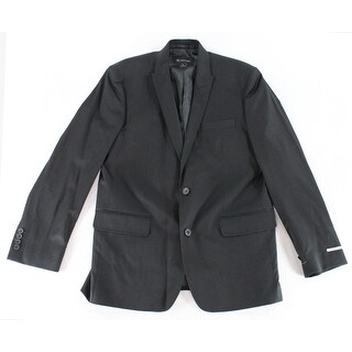INC NEW Solid Black Mens Size Large L Slim Fit Two Button Blazer