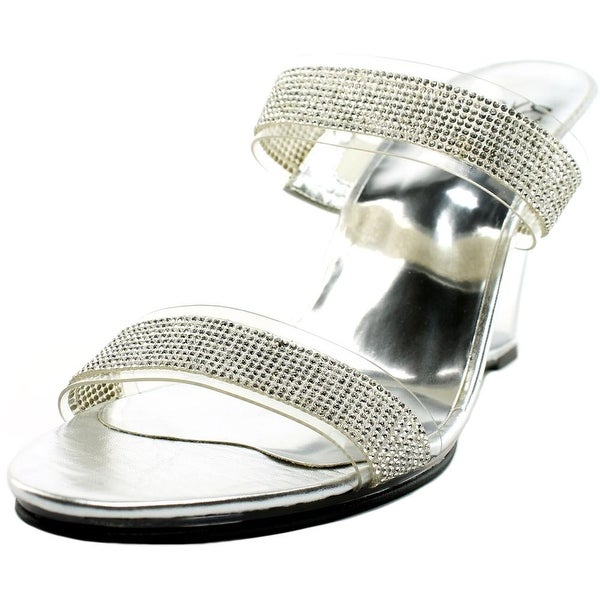 Love and Liberty Jessica Women Open Toe Synthetic Silver Sandals