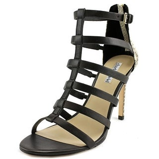 Charles David Idealize Open-Toe Leather Heels