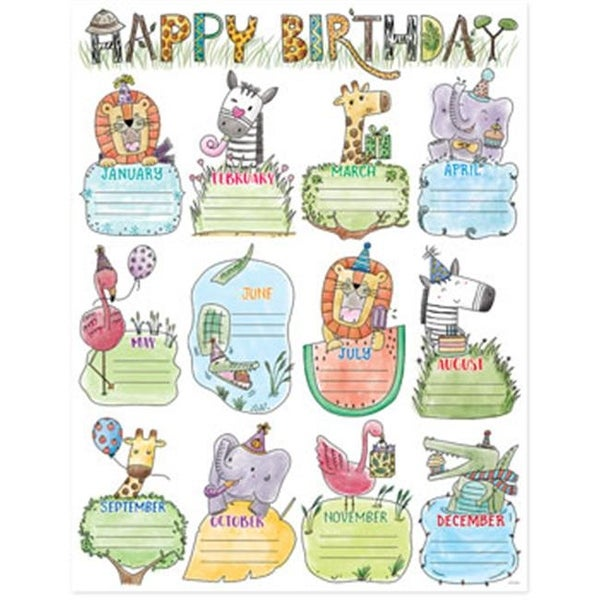 Shop Creative Teaching Press CTP2793 Safari Friends Happy Birthday Chart