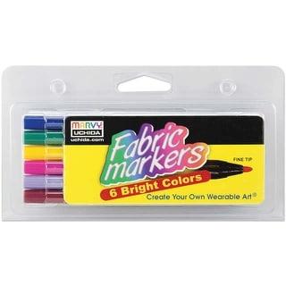 Fabric Markers Fine Tip 6/Pkg-Bright