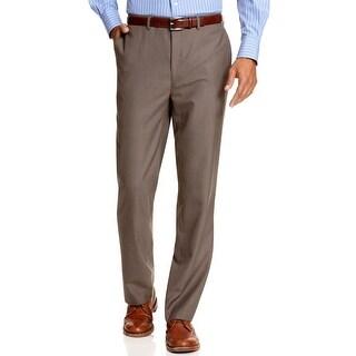 Calvin Klein CK Body Slim Fit Flat Front Dress Pants Light Brown 31 x 30