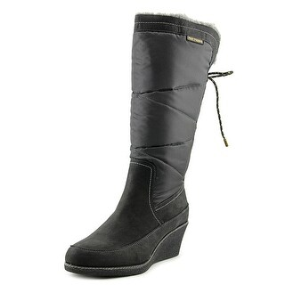 Hush Puppies Hilde Hyde Round Toe Canvas Knee High Boot