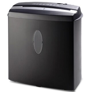 Costway 10 Sheet Cross-Cut Paper/Credit Card/Staples Shredder w/ Basket Home Office - Black