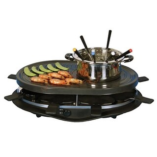 Koolatron TCRF08BN Party Grill Raclette with Fondue Pot