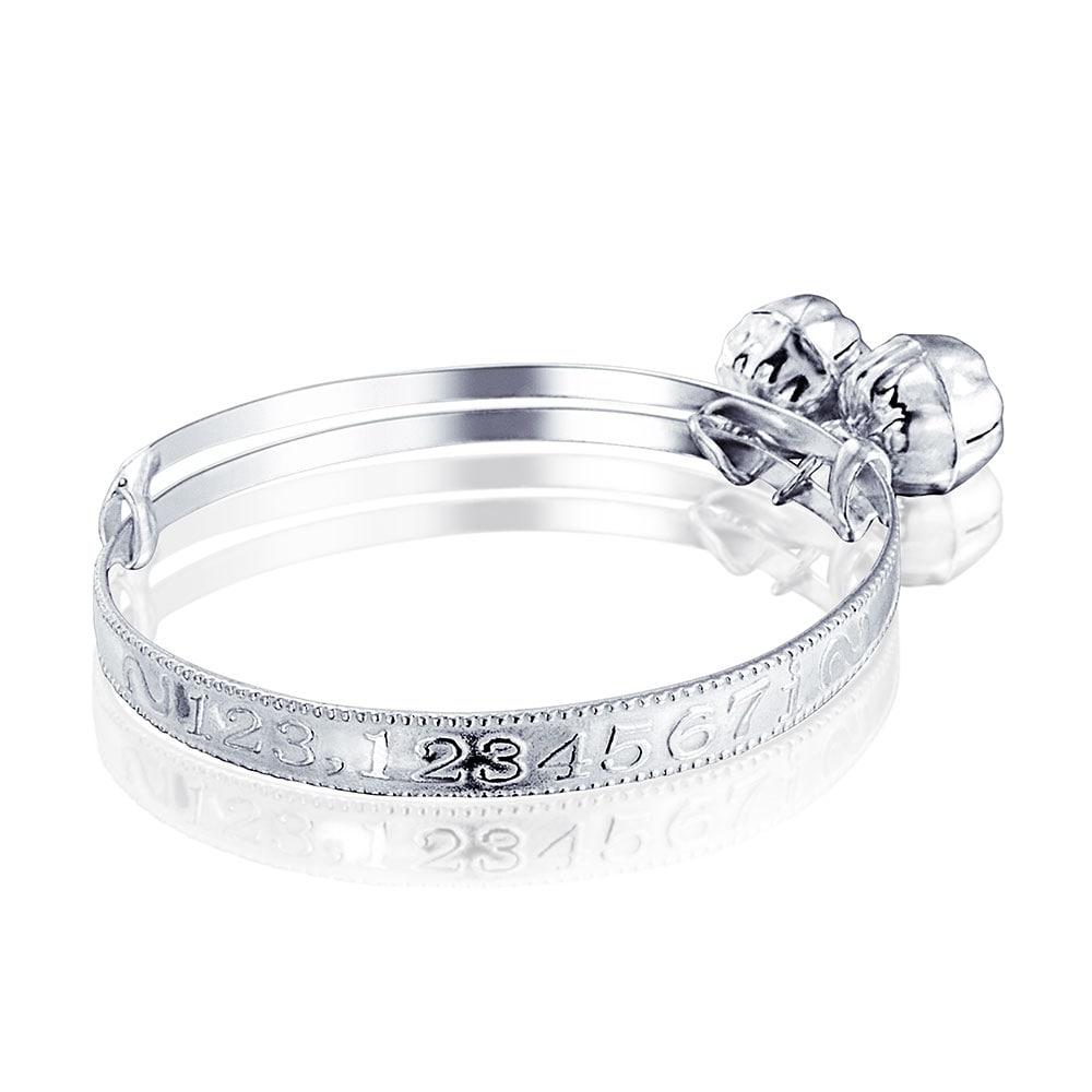 Baby Toddler Irish Claddagh Bangle Bracelet Adjustable 925 Sterling Silver NEW
