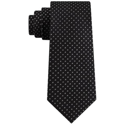 Tommy Hilfiger Men's Bird Eye Tie Black Size Regular