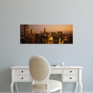 Easy Art Prints Panoramic Images's 'Skyscrapers in a city, Chicago, Illinois, USA' Premium Canvas Art