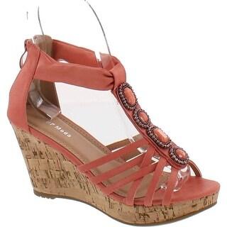 Top Moda Women's Xe-5 Wedge Sandals