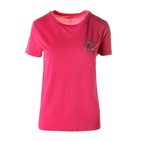 Juicy Couture Black Label Womens T-Shirt Modal Blend Embellished
