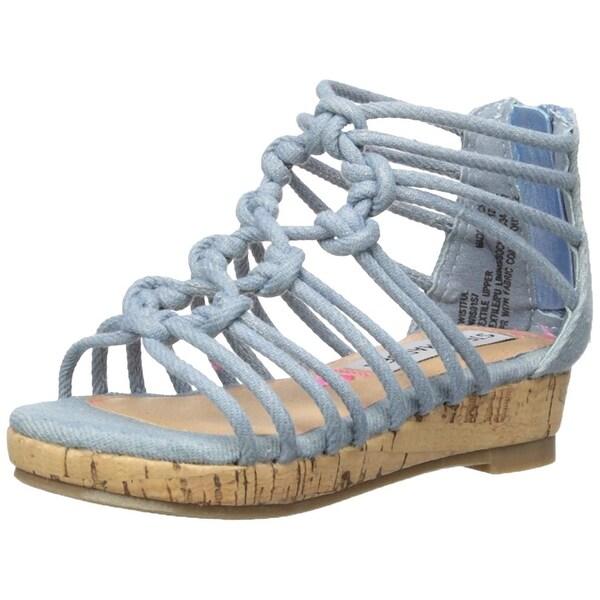 Shop Steve Madden Kids  Twistful Wedge Sandal - Free Shipping On ... bc010553b105