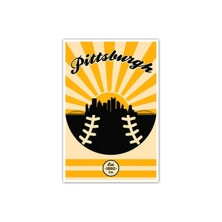 Pittsburgh - Vintage MLB - 24x36 Gallery Wrapped Canvas Wall Art