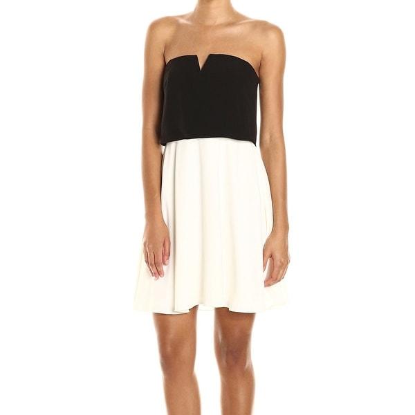 318dbef36e80 Shop Halston Heritage Black Women's Size 12 Colorblock Sheath Dress ...