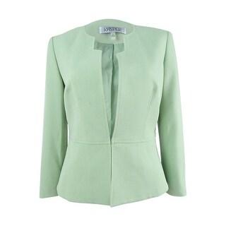 Kasper Women's Cutout-Collar Blazer - Celadon (4 options available)